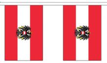 AUSTRIA WITH CREST BUNTING - 9 METRES 30 FLAGS